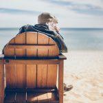 old man on the beach